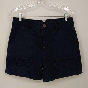 REI Size 6 Women Cargo Shorts Blue Cotton